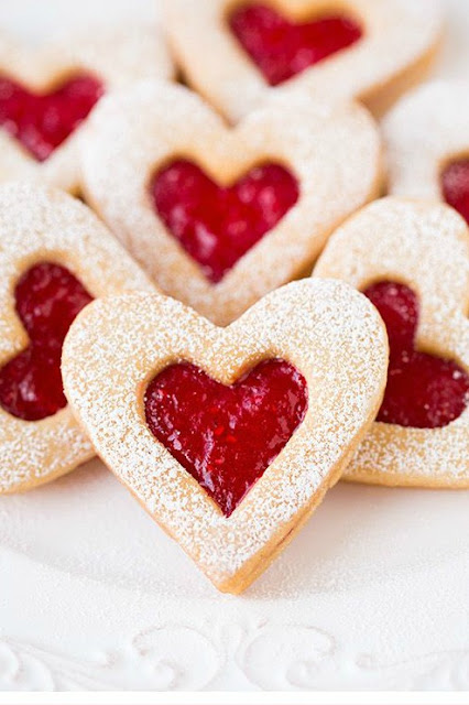 Valentine Linzer Cookies Recipes — Dishmaps