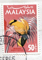Stamps Of Malaysia Definitive Postage Stamps 1965 National Series Birds