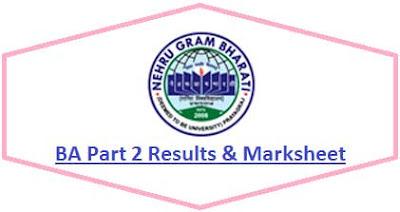 Nehru Gram Bharati University BA Part 2 Result 2021