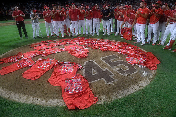 Los Angeles Angels launch a game without hits while honoring Tyler Skaggs