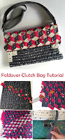 Foldover Zippered Clutch Bag Sewing Tutorial