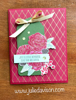 Stampin' Up! Christmastime is Here ~ Christmas Rose ~ You Are Loved card for #GDP214 ~ www.juliedavison.com