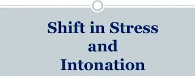 The significance of the stress-shift appears most clearly when we compare two sets of words in modern English.