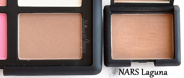 NARS Best Cheek Blush Palette 2016 Pan Size Packaging Comparison Laguna Bronzer