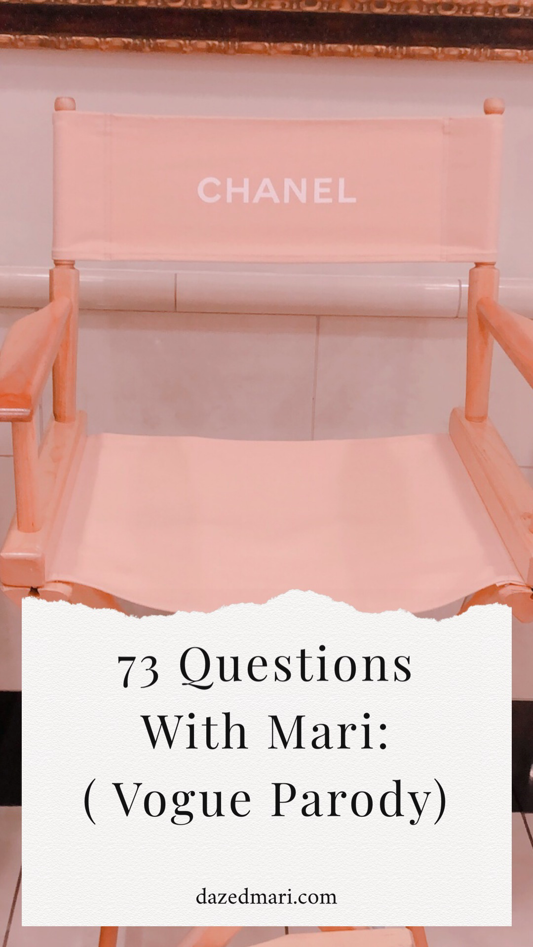 Vogue Parody, Vogue, 73 Questions