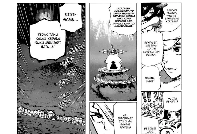 Spoiler manga Dr. Stone chapter 123 I Mozu vs Gen