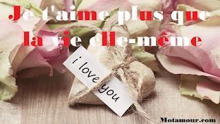 Je t'aime plus que la vie elle-même