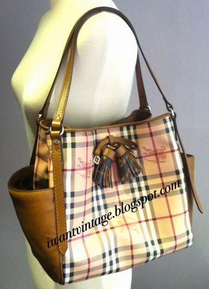 c2b2cef6d020 Burberry Haymarket Check Tassel Detail Tote Bag (Limited Edition)
