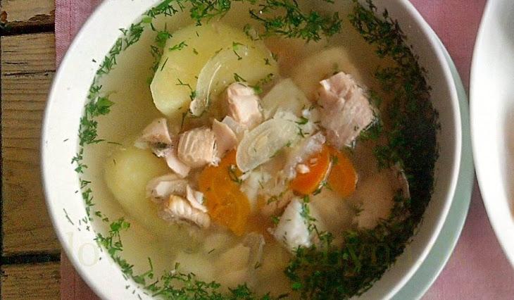 Račia polievka s ragú
