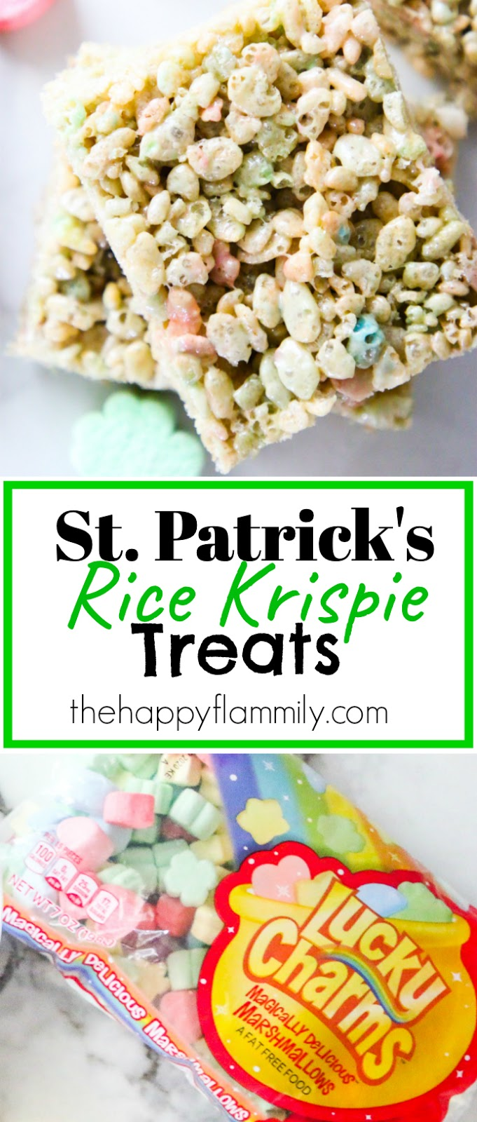 How to make green Rice Krispie treats. Green Rice Krispie treats for St Patricks day. St Patricks day recipes. St Patricks treat ideas. St Patricks party ideas. St Patricks rice crisps with Lucky Charms marshmallows. Lucky charms marshmallow treat ideas. Easy st Patricks day recipes. Easy green recipe ideas. St Patricks day food ideas. #green #treats #kids #ricekrispies #ricecrispies #stpatricks #stpatricksday #marshmallows #rainbow #sweets