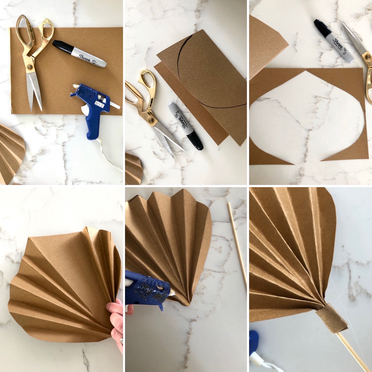 DIY Dried Paper Palm Leaves