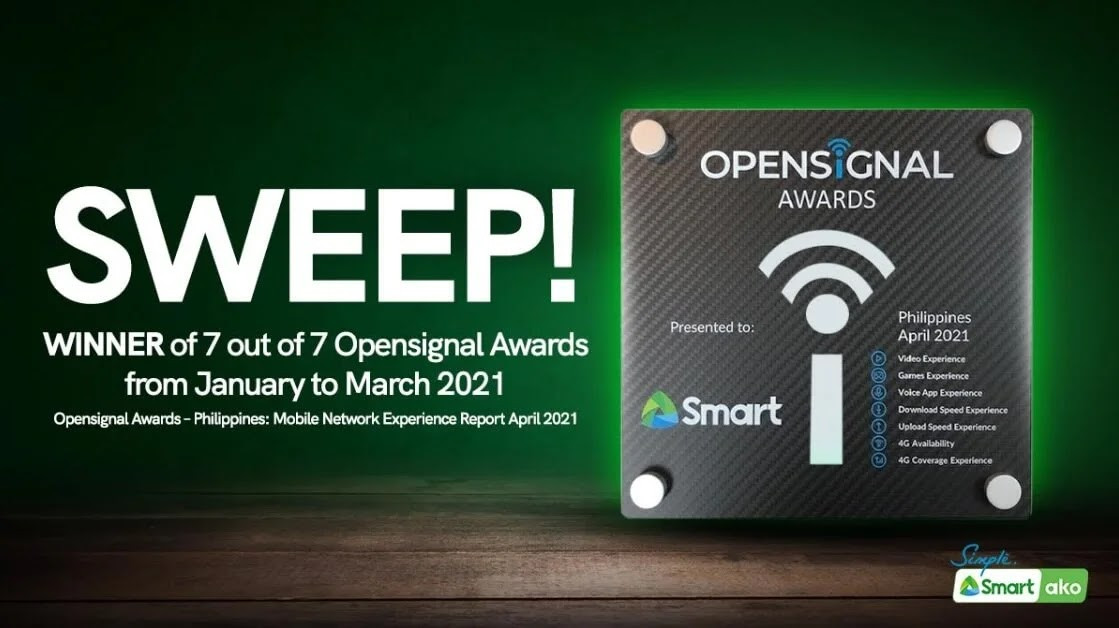 Smart Wins All Opensignal Awards for Q1 2021