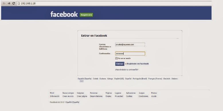 Phishing en 2014: Ejemplo práctico con Facebook