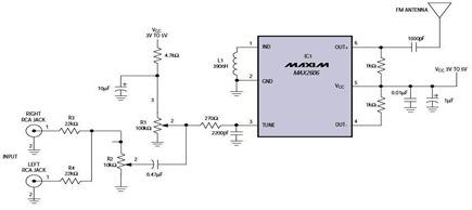 Extends Home Entertainments via FM Transmitter Circuit Diagram