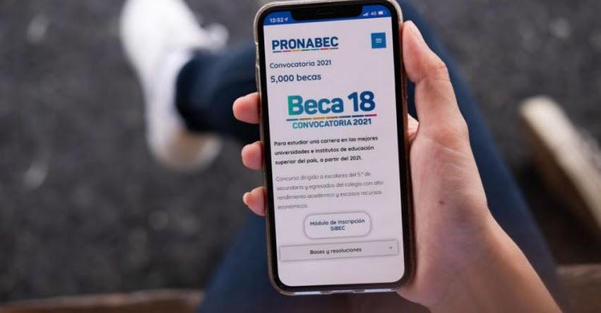 BECA 18: TUTORIAL cómo inscribirte al Concurso Nacional Beca18-2021 desde tu celular - PRONABEC - www.pronabec.gob.pe