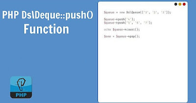 PHP Ds\Deque::push() Function