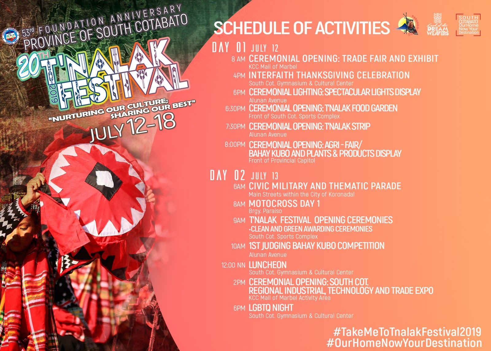 Tnalak Festival 2019 | See Schedule of Activities