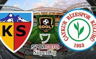 Çaykur Rizespor vs Kayserispor canlı maç izle