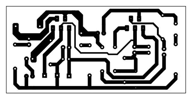 tda2030 bridge amplifier circuit PCB