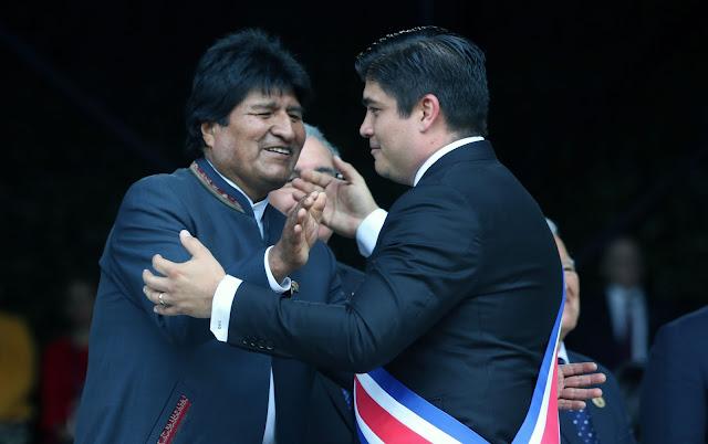 El régimen asegura que Morales recibió el cariño del pueblo costarricense / ABI
