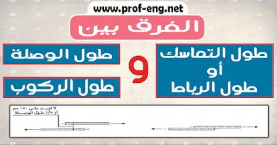 الفرق بين طول التماسك | طول الرباط | وطول الوصلة وطول الركوب