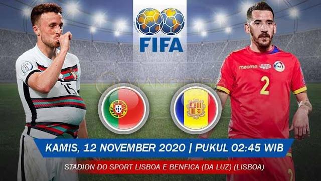 Prediksi Portugal Vs Andorra, Kamis 12 November 2020 Pukul 02.45 WIB @ Mola TV