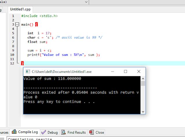 Explicit type conversion  example
