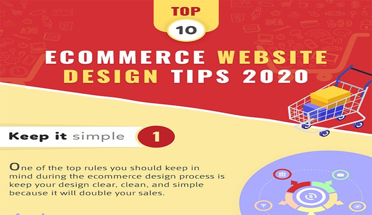 Top 10 Ecommerce Website Design Tips 2020 #infographic