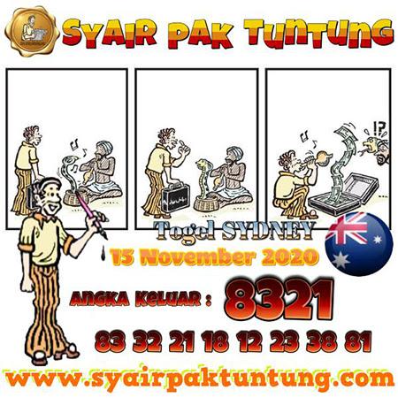 Syair Pak Tuntung Sydney Minggu 15 November 2020