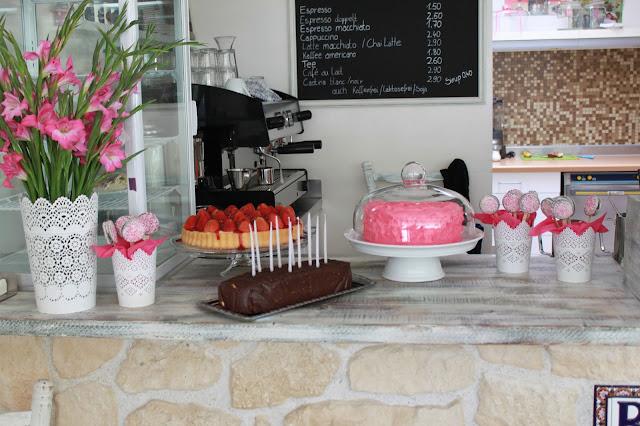 Partybüffet in pink