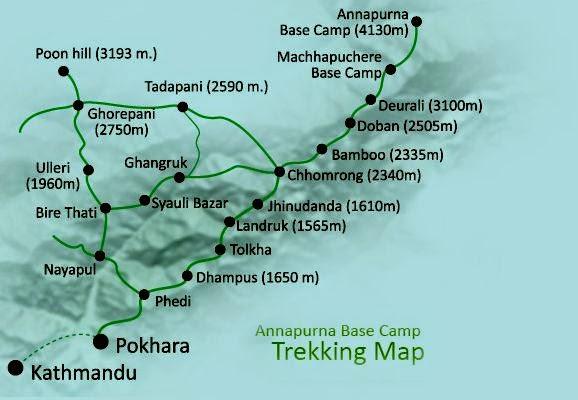 ABC trek map