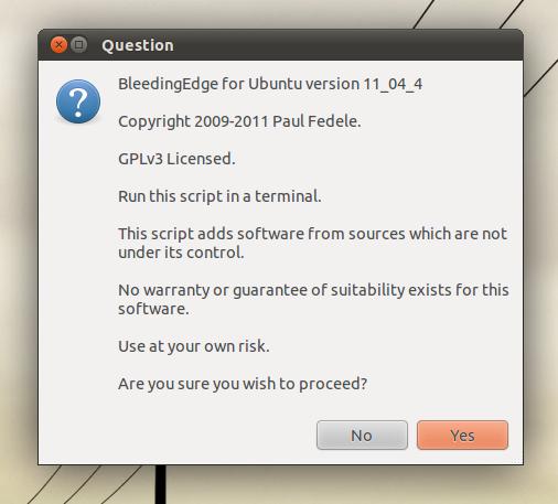 Bleeding Edge - Install Major Apps Not Available in Ubuntu Software