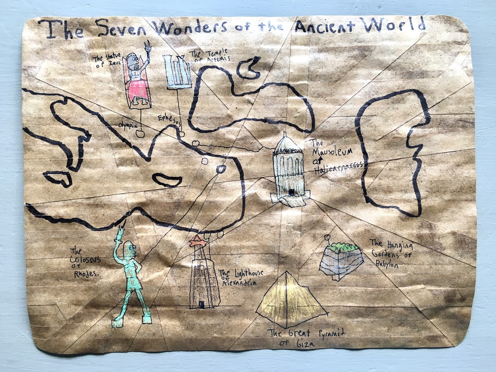 Monarch room week in review hod ctc unit 22 our history project this week was to make a papyrus map of the seven ancient wonders of the world as luck would have it i am reading a book by that title gumiabroncs Images