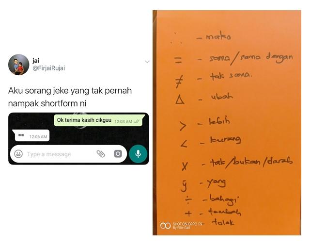 Shortform Simbol Matematik Zaman Sekolah Yang Ingat-ingat Lupa Dah...