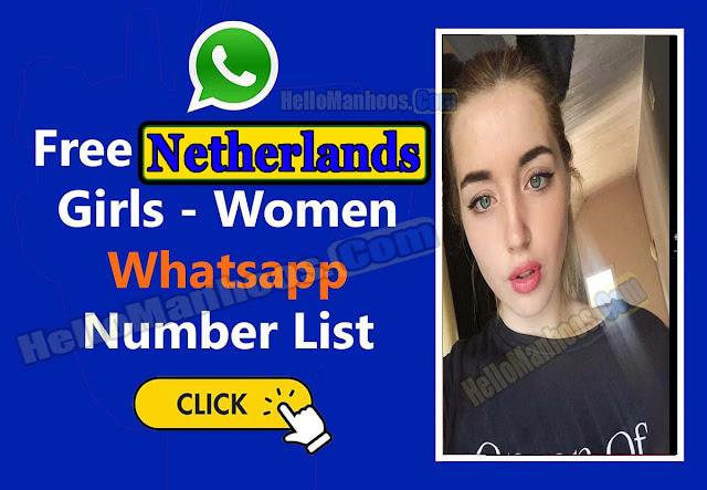 Netherlands girls WhatsApp mobile number list for friendship 2021