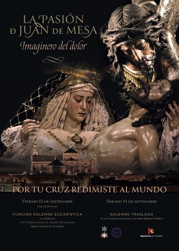 Cartel de Nuestra Señora de las Angustias Coronada y El Nazareno de La Rambla para la Magna Exposición de Córdoba