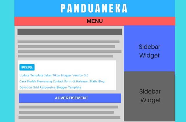 Cara Memasang Iklan Adsense dan Related Post di Tengah Postingan Blog Dengan Mudah