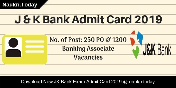 J K Bank Admit Card 1
