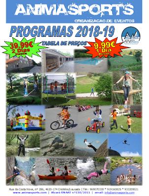 Folheto Programas Escolas 2018.19 www.animasports.com