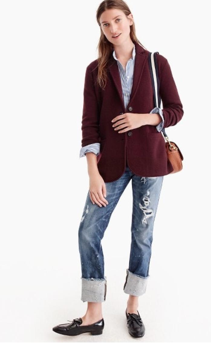 49450382fd31d Petite Impact  Fit Review Friday! J.Crew Merino Wool Sweater Blazers