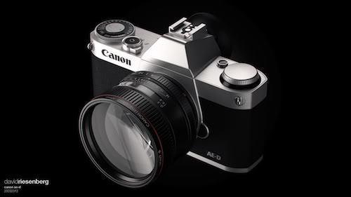 Концепт полнокадровой беззеркальной камеры Canon от Дэвида Ризенберга