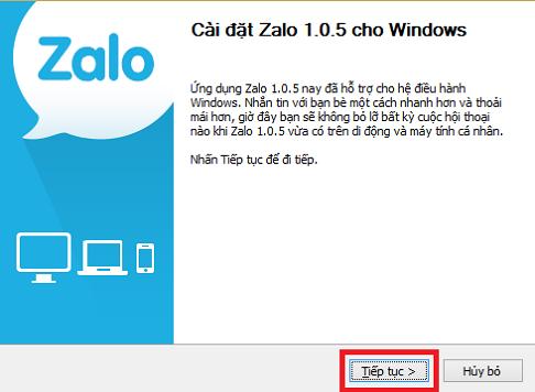 Cài đặt Zalo trên máy tính, PC a