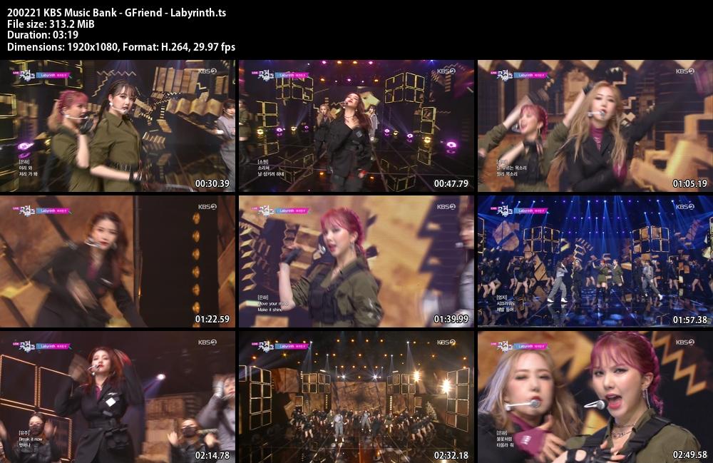Music Bank ,1080p , Kpop, 2020 , GFriend , Labyrinth