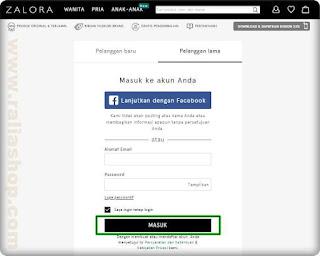 membatalkan pesanan di zalora Indonesia