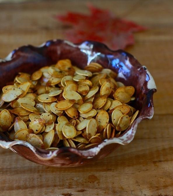 Spicy Roasted Pumpkin Seeds by SeasonWithSpice.com