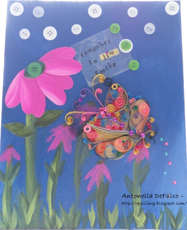 painted quilled filigree filigrana quilling butterfly giveaway