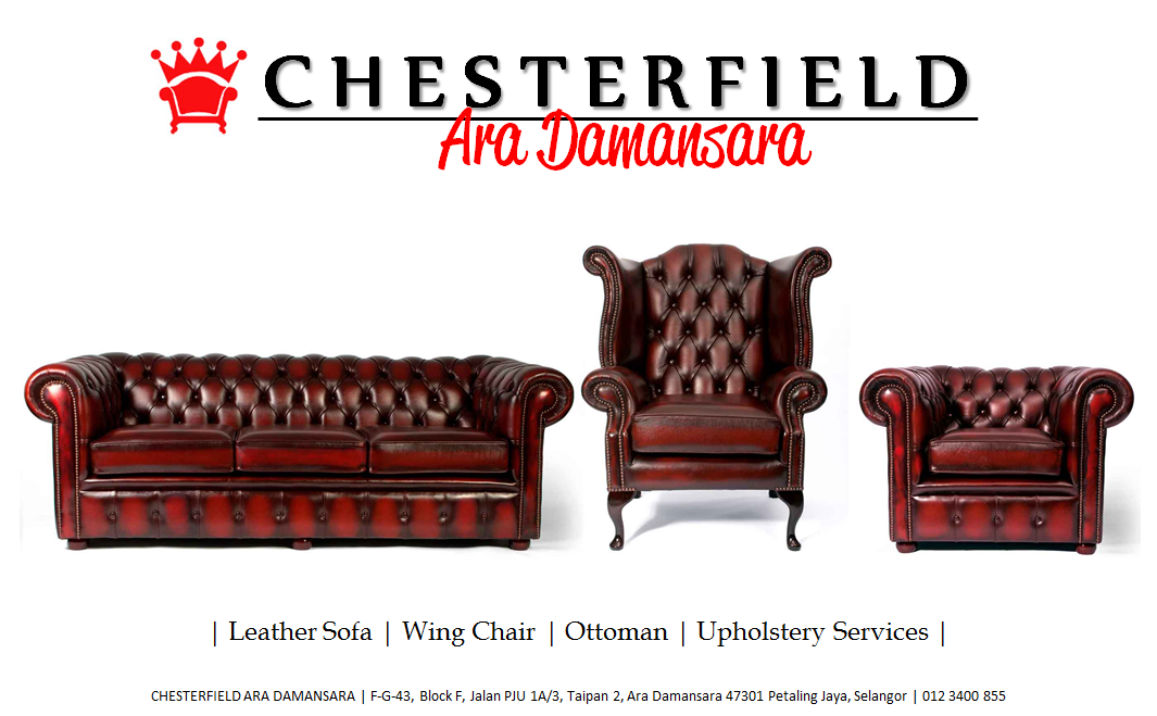 ROYALE CHESTERFIELD Sofa Kulit atau Fabrik ?
