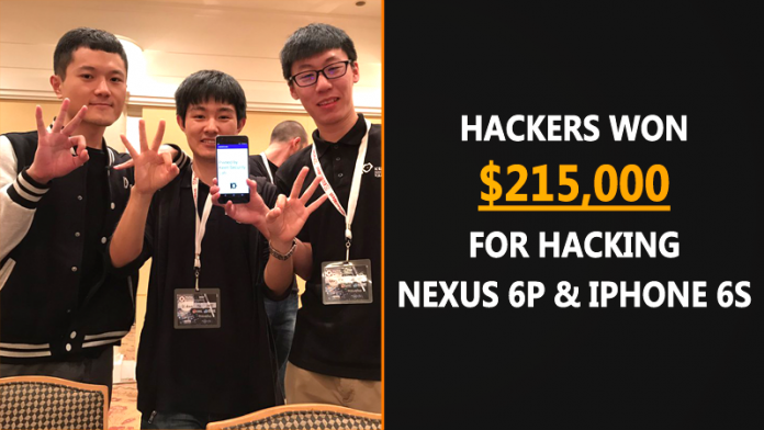 Hackers Won $215,000 For Hacking iPhone 6S and Nexus 6P
