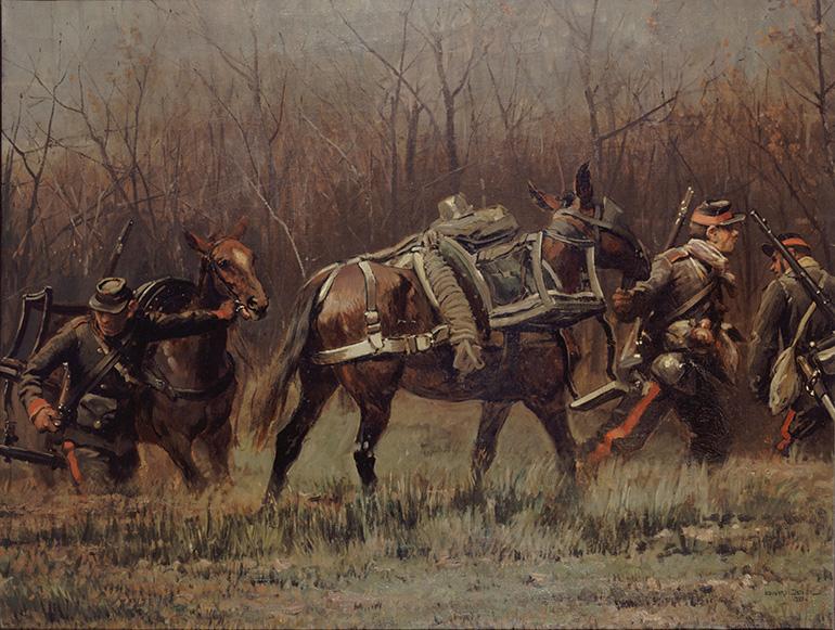 Fragment du panorama de la bataille de Champigny