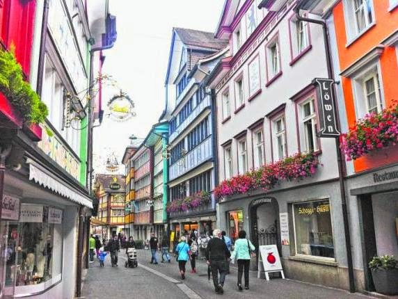The town of Appenzell has picturesque buildings dating back to the 16th century.